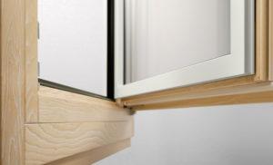 Infissi minimal alluminio legno